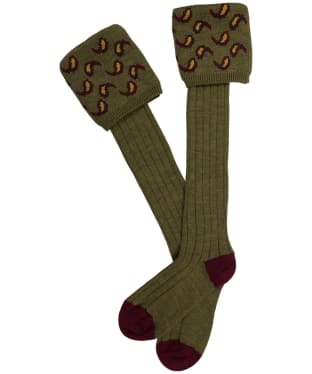 Men's Pennine Norfolk Shooting Socks - Old Sage