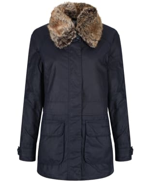 Women's Barbour Banavie Waxed Jacket - Royal Navy