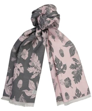 Women's Joules Jacquelyn Scarf - Pink Etched Botanical