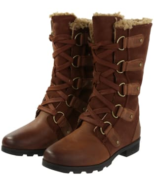 Women's Sorel Emelie Lace Waterproof Boots - Burro