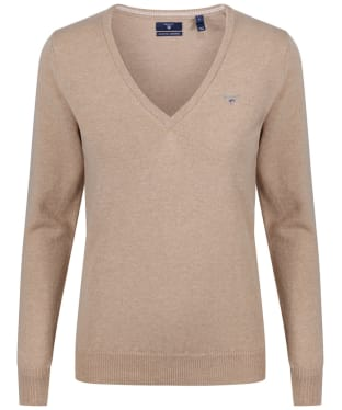 Women's GANT Super Fine Lambswool Sweater - Beach Sand Mel