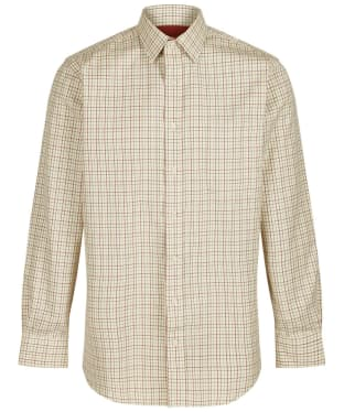 Men's Schoffel Burnham Tattersall Shirt - Red / Green Check