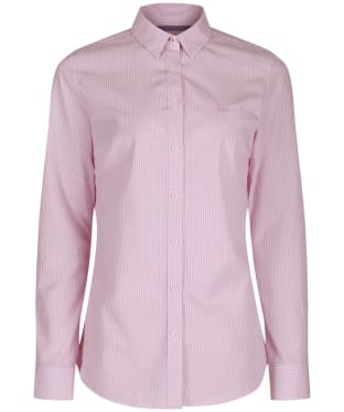 Women's Crew Clothing Classic Striped Shirt - Pink / White