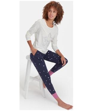 Women's Joules Aubree Graphic Jersey Pyjama Top - Cream