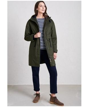 Women's Seasalt Polperro 3 Season Coat - Woodland