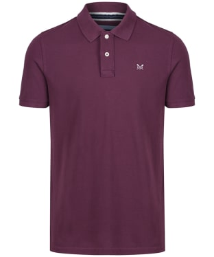 Men's Crew Clothing Classic Pique Polo Shirt - Washed Plum