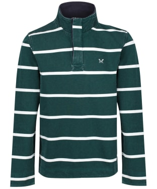 Men's Crew Clothing Padstow Pique Sweatshirt - Green / White