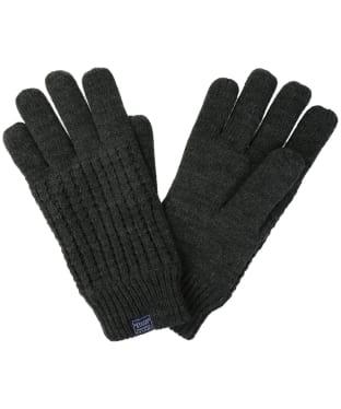 Men's Joules Bamburgh Knitted Gloves - Dark Grey