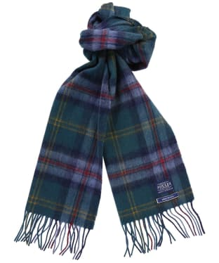 Men's Joules Tytherton Wool Checked Scarf - Blue Multi Check