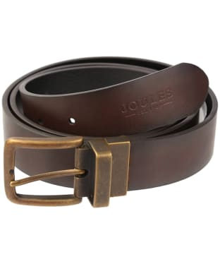 Men's Joules Reversible Leather Belt - Brown / Black