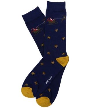 Men's Joules Striking Christmas Socks - Flying Santa