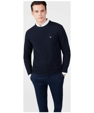 Men's GANT Super Fine Lambswool Sweater - Marine
