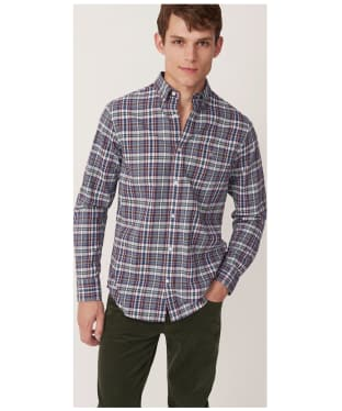 Men's GANT Winter Twill Melange Plaid Shirt - Persian Blue