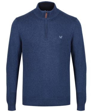 Men's Crew Clothing Half Zip Sweater - Indigo Marl