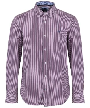 Men's Crew Clothing Classic Stripe Shirt - Washed Plum