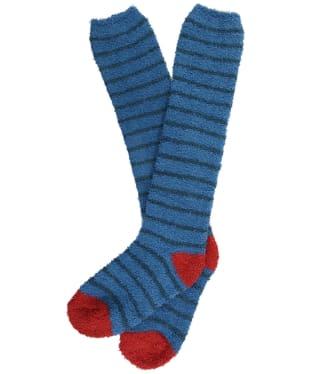 Women's Seasalt Fluffies Long Socks - Breton Dark Paddle