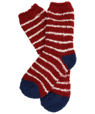 Women's Seasalt Fluffies Short Socks - Chunky Breton Dahlia