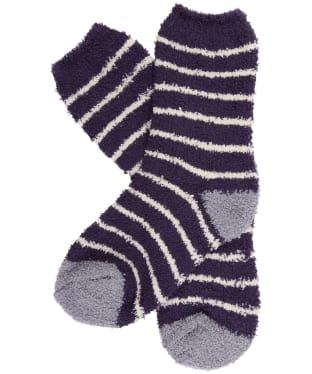 Women's Seasalt Fluffies Short Socks - Chunky Breton Sloe