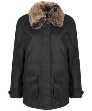 Women's Barbour Banavie Waxed Jacket - Sage