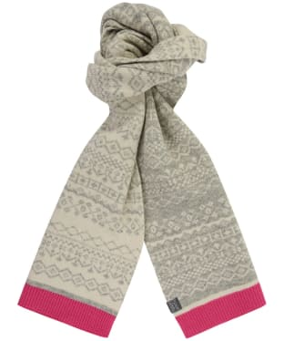 Women's Joules Elsa Fairisle Knitted Scarf - Grey