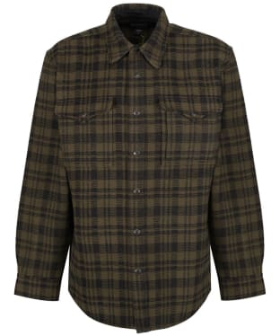 Men's Filson Beartooth Jac-Shirt - Dark Brown / Charcoal