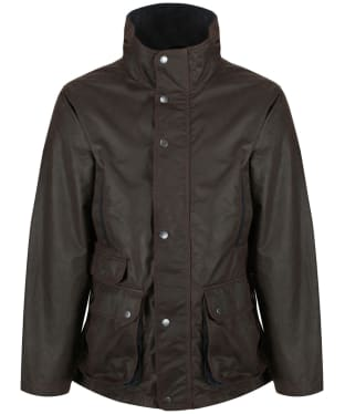 Men's Jack Murphy Archie Wax Jacket - Rich Brown