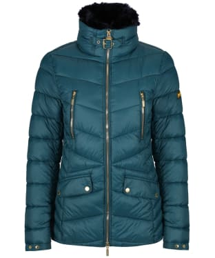 Women's Barbour International Autocross Quilted Jacket - Mallard