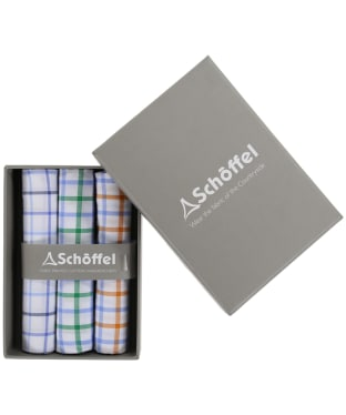 Men's Schöffel Handkerchiefs, pack of 3 - Holkham Mix