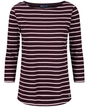 Women's Crew Clothing Essential Breton Top - Fresh Damson / Pure Pink