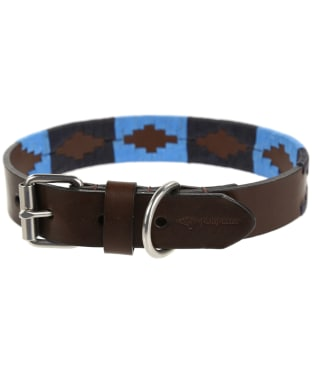 Pampeano Leather Dog Collar - Azules