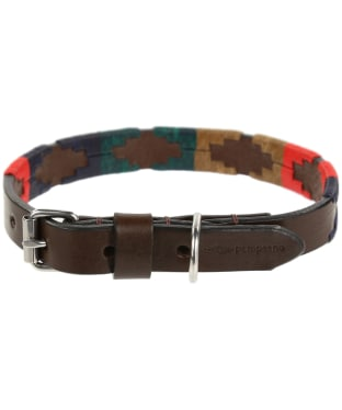 Pampeano Leather Dog Collar - Navidad