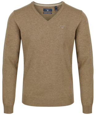 Men's GANT Super Fine Lambswool Sweater - Seawood Melange