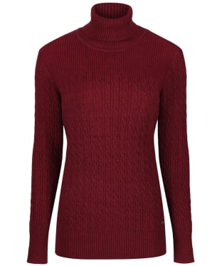 Women's Dubarry Boylan Polo Neck Sweater - Malbec