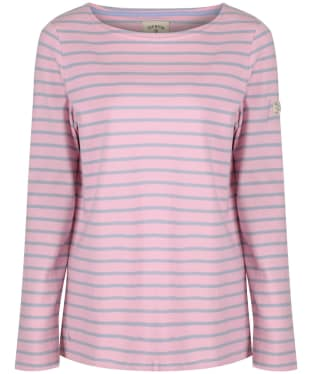 Women's Joules Harbour Jersey Top - Dusk Pink Stripe