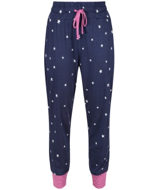 Women's Joules Jocelyn Jersey Pyjama Bottoms - French Navy Star