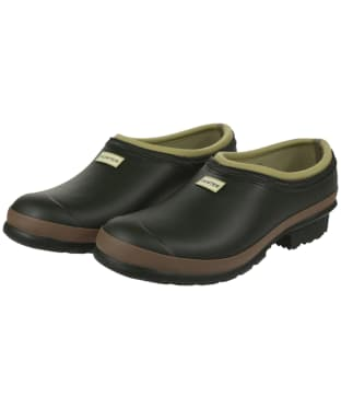 Men's Hunter Gardener Clogs - Dark Olive / Clay