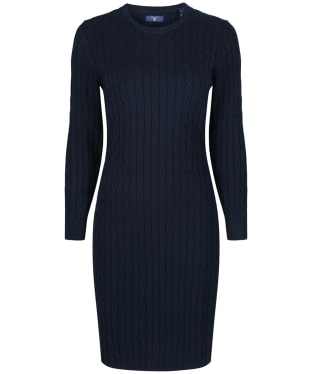 Women's GANT Stretch Cotton Cable Dress - Evening Blue