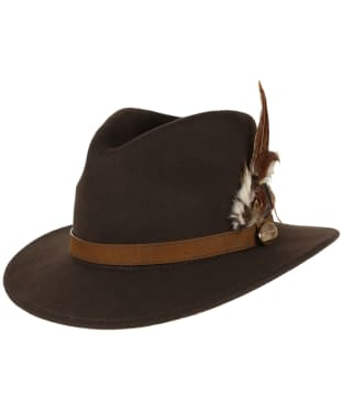 Women's Hicks & Brown The Suffolk Fedora Hat - Brown