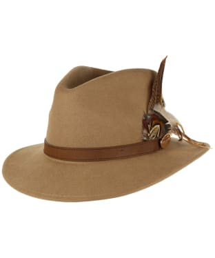 Women's Hicks & Brown The Suffolk Fedora Hat - Camel