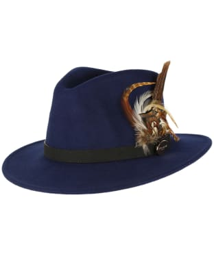 Women's Hicks & Brown The Suffolk Fedora Hat - Navy