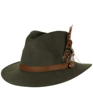 Women's Hicks & Brown The Suffolk Fedora Hat - Olive