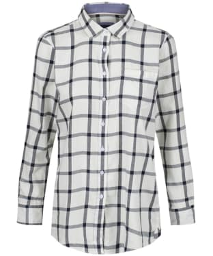 Women's Crew Clothing Weekend Flannel Shirt - White / Navy