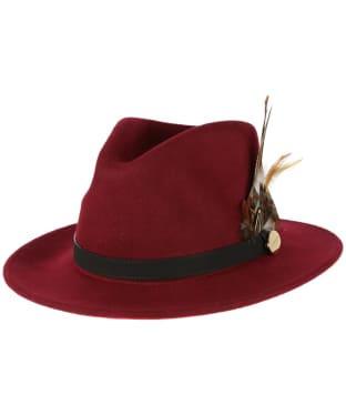 Women's Hicks & Brown The Suffolk Fedora Hat - Maroon