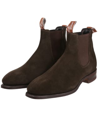 R.M. Williams Comfort Craftsman Boots - Suede leather, comfort rubber sole - G (Regular) Fit - Chocolate