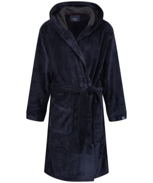 Men's Joules Cosytime Hooded Dressing Gown - Marine Navy