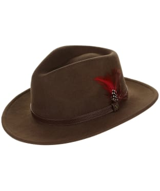 Women's Joules Felt Fedora Hat - Dark Brown