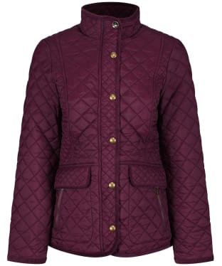 Women's Joules Newdale Quilted Jacket - Burgundy