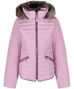 Women's Joules Gosling Short Padded Jacket - Dusk Pink