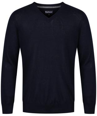 Men's Barbour Merino V Neck Sweater - Navy