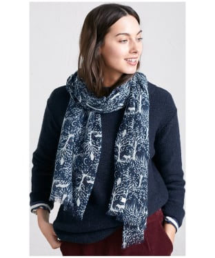 Women's Seasalt Pretty Printed Scarf - Forest Collage Night